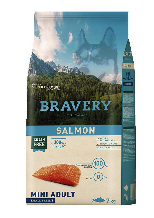 VZOREK - BRAVERY dog ADULT mini SALMON - 70g