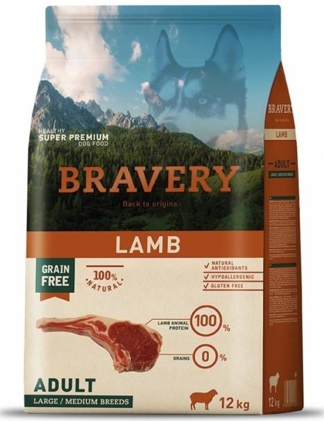 VZOREK - BRAVERY dog ADULT largemedium LAMB - 70g