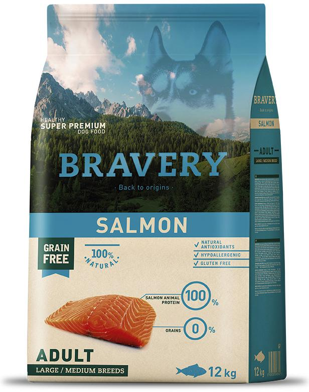 VZOREK - BRAVERY dog ADULT largemedium SALMON - 70g