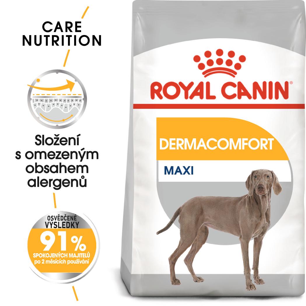 Royal Canin Maxi Dermacomfort - granule pro velké psy s problémy s kůží - 10kg