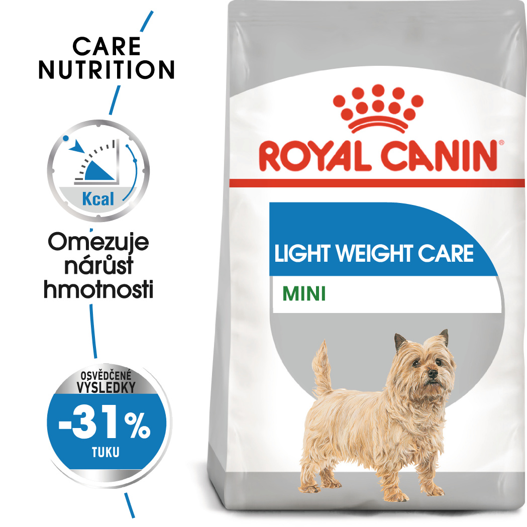 Royal Canin Mini Light Weight Care - dietní granule pro psy - 8kg