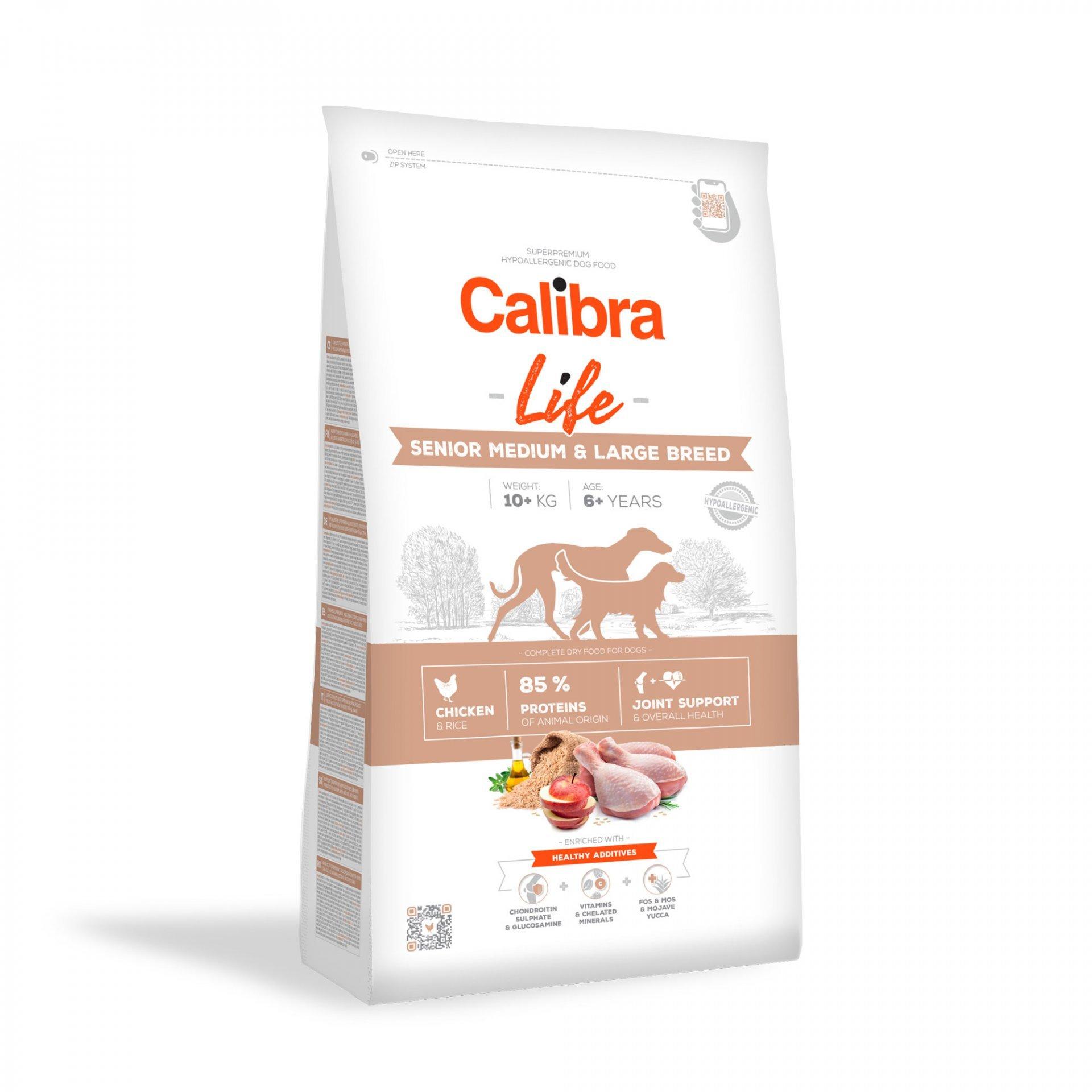 CALIBRA dog LIFE SENIOR medium & large CHICKEN - 12kg