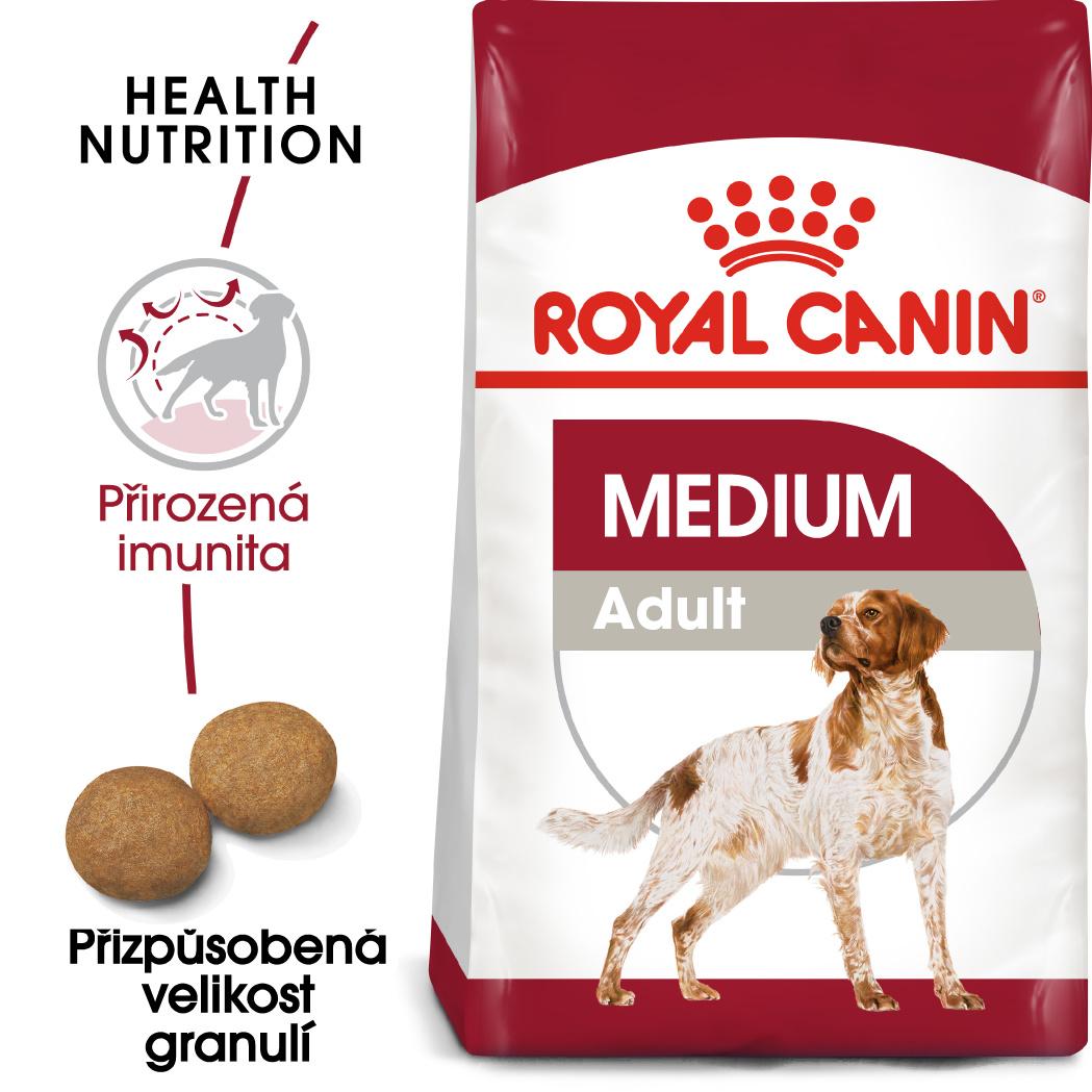 Royal Canin Medium Adult - granule pro dospělé střední psy - 4kg