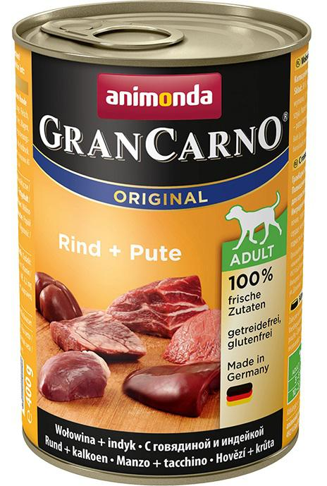 Animonda dog konzerva Gran Carno Hovězí + Krůta