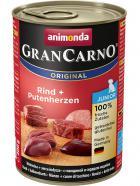 Animonda dog konzerva Gran Carno Junior hovězí/krůtí srdce