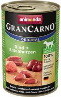 Animonda dog konzerva Gran Carno hovězí / kachní srdce