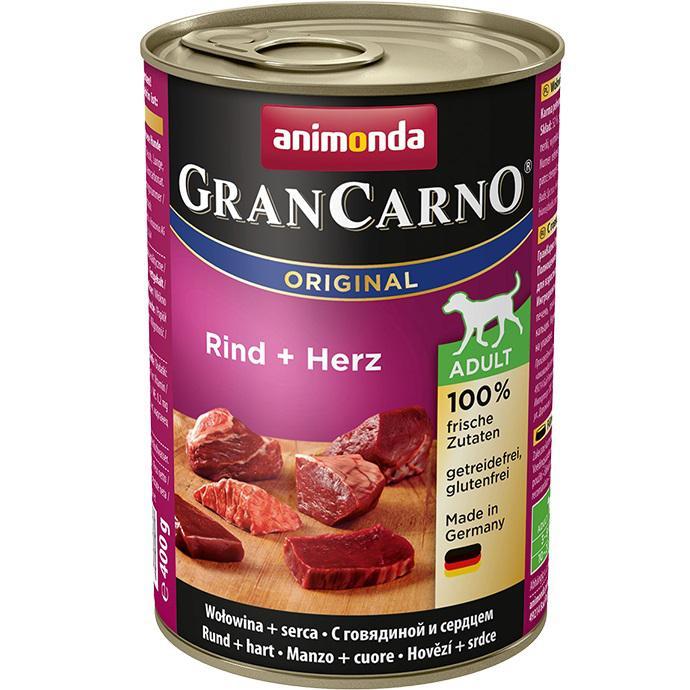 Animonda dog konzerva Gran Carno Hovězí + Srdce - 400g