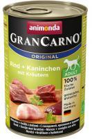ANIMONDA dog konzerva Gran Carno hovězí/králík/bylinky