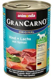 ANIMONDA dog konzerva Gran Carno hovězí/losos/špenát