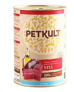PETKULT dog konz.  JUNIOR - hovězí 400g
