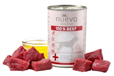 NUEVO dog konz. SENSITIVE hovězí - 400g