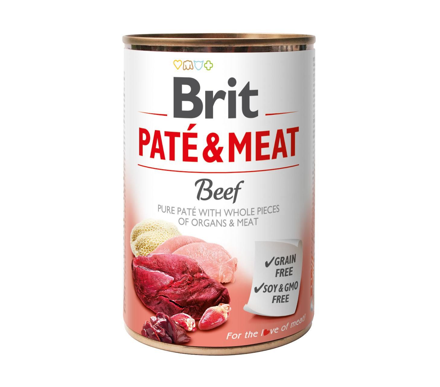 BRIT  konzerva PATE and MEAT 400g
