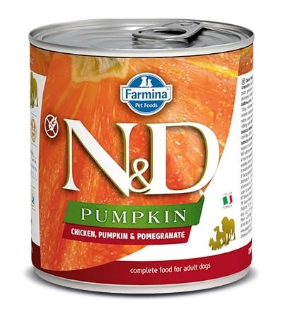 Namp;D dog GF PUMPKIN konz. ADULT chickenpomegranate - 285g