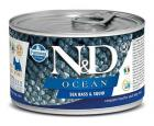 N&D dog OCEAN konz. ADULT MINI sea bass/squid