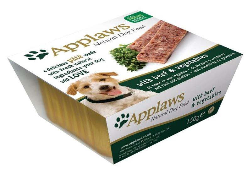 APPLAWS dog vanička HOVĚZÍ/zelenina - 150g