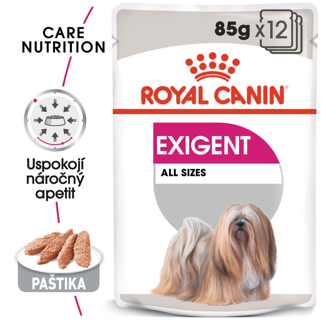 Royal Canin Exigent Dog Loaf - kapsička s paštikou pro mlsné malé psy - 85g