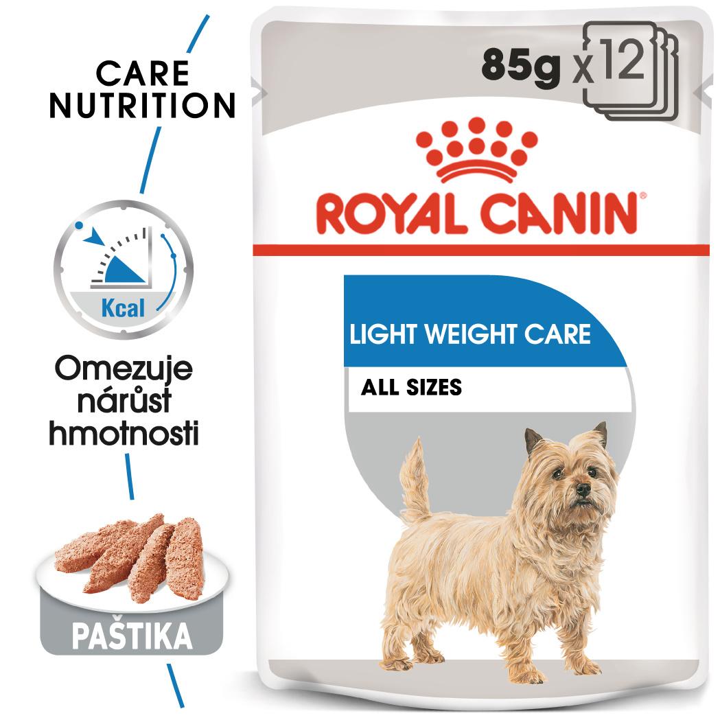 Royal Canin Light Weight Care Dog Loaf - dietní kapsička s paštikou pro psy - 12x85g