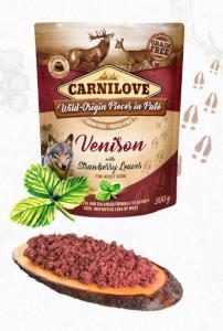 CARNILOVE dog  kapsa  PATÉ VENISON/strawberry leaves