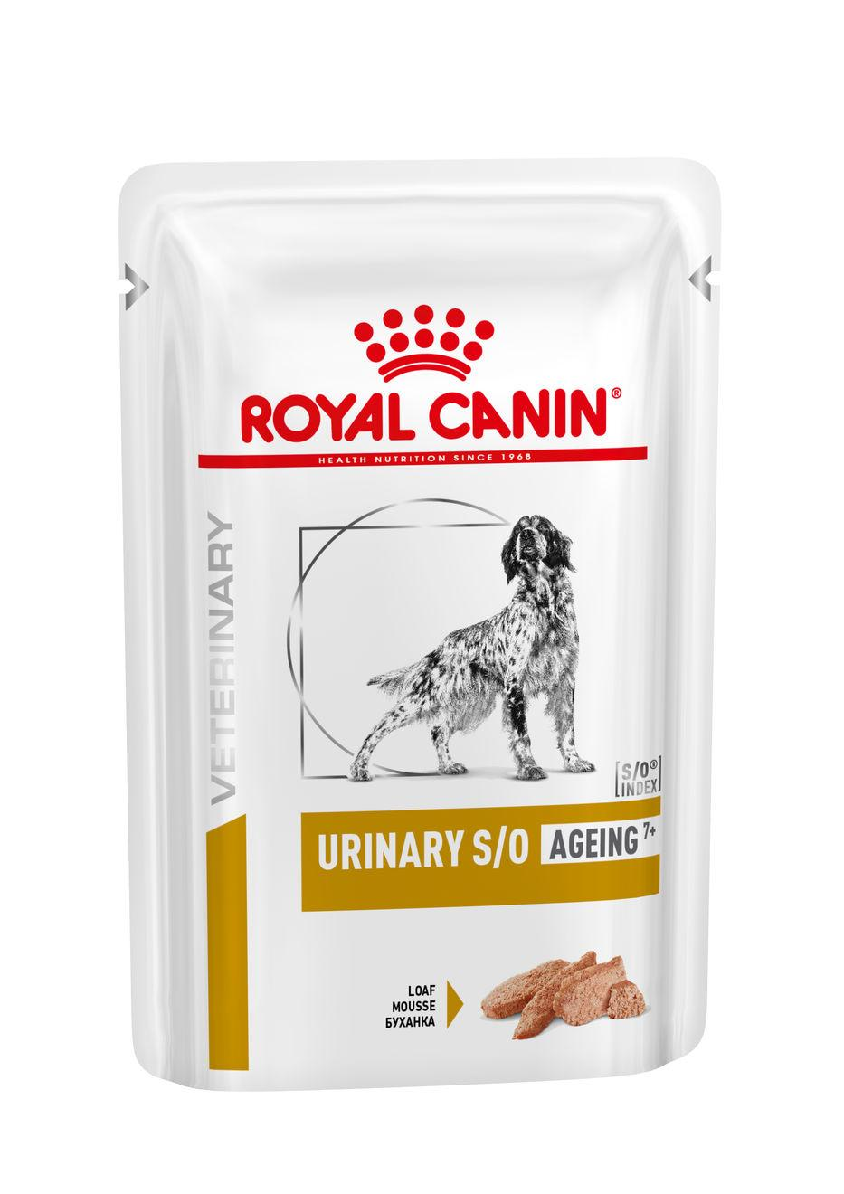 Royal Canin Veterinary Health Nutrition Dog URINARY SO Age Pouch Loaf kapsa - 85g
