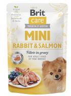 BRIT CARE dog  MINI kapsa ADULT  rabbit/salmon