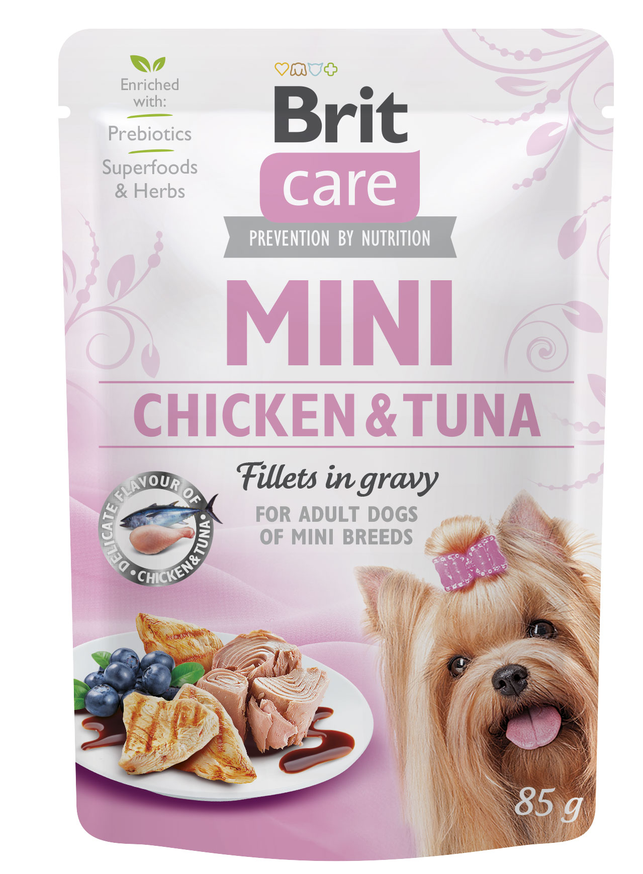 BRIT CARE dog MINI kapsa  ADULT chickentuna - 85g
