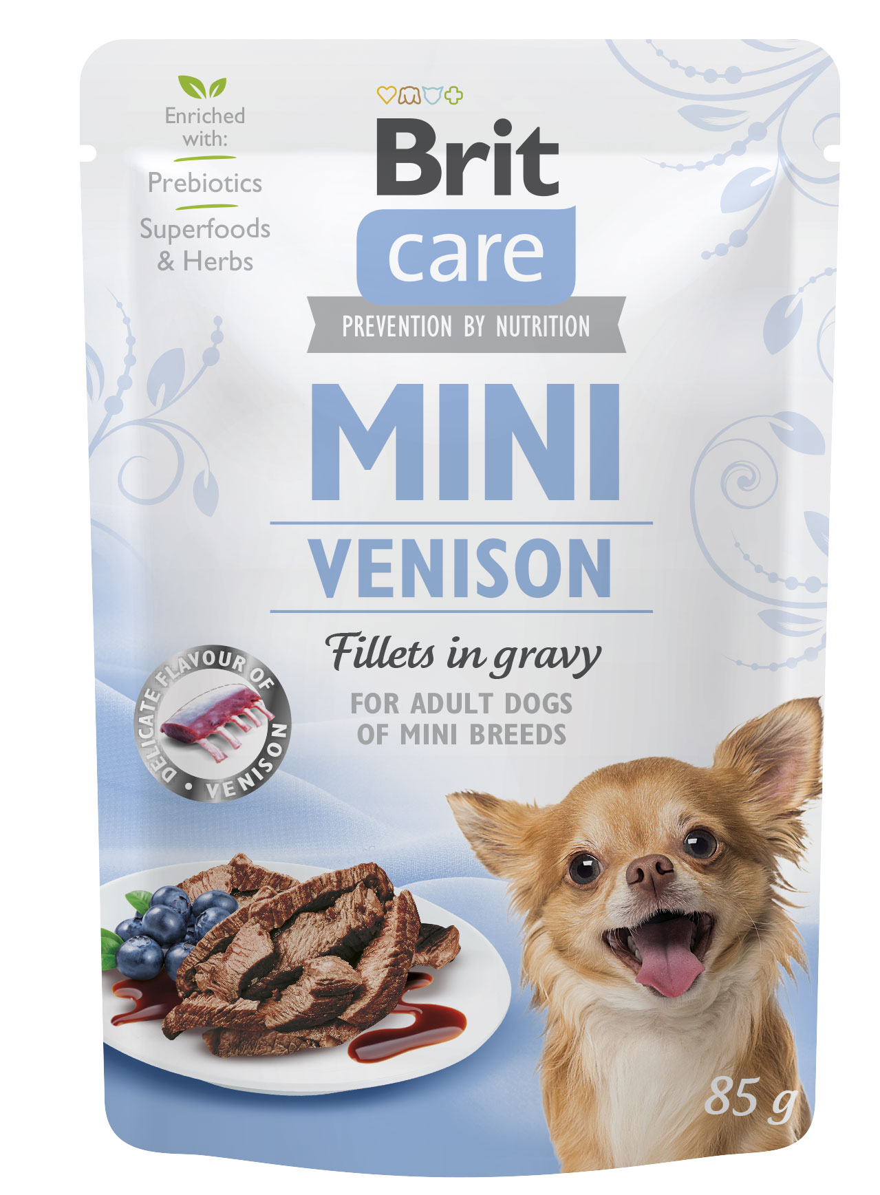 BRIT CARE dog  MINI kapsa ADULT  venison - 85g