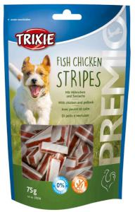 Pochoutka dog PREMIO FISH CHICKEN STRIPES (trixie)