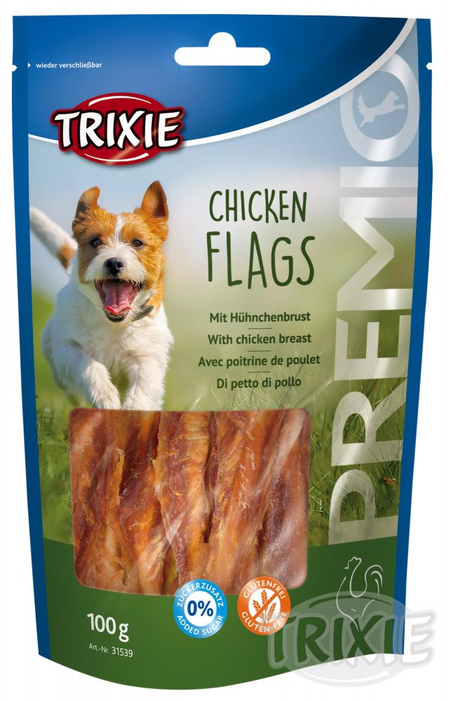 Trixie     dog poch. CHICKEN FlLAGS  - 100g