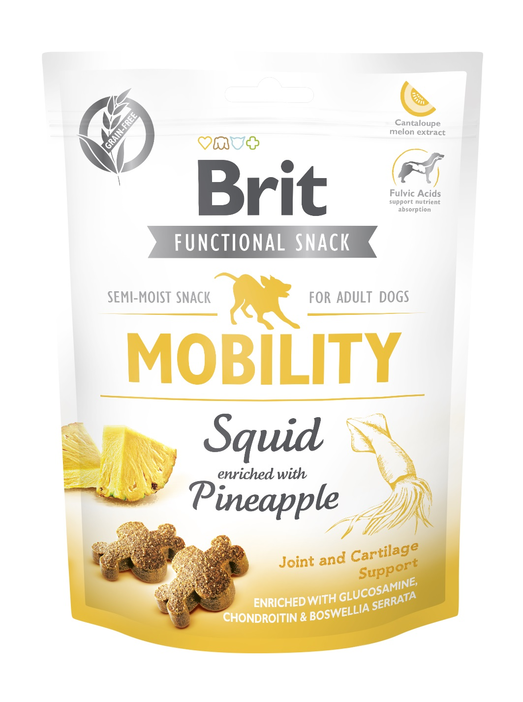 BRIT snack MOBILITY squid/pineapple - 150g