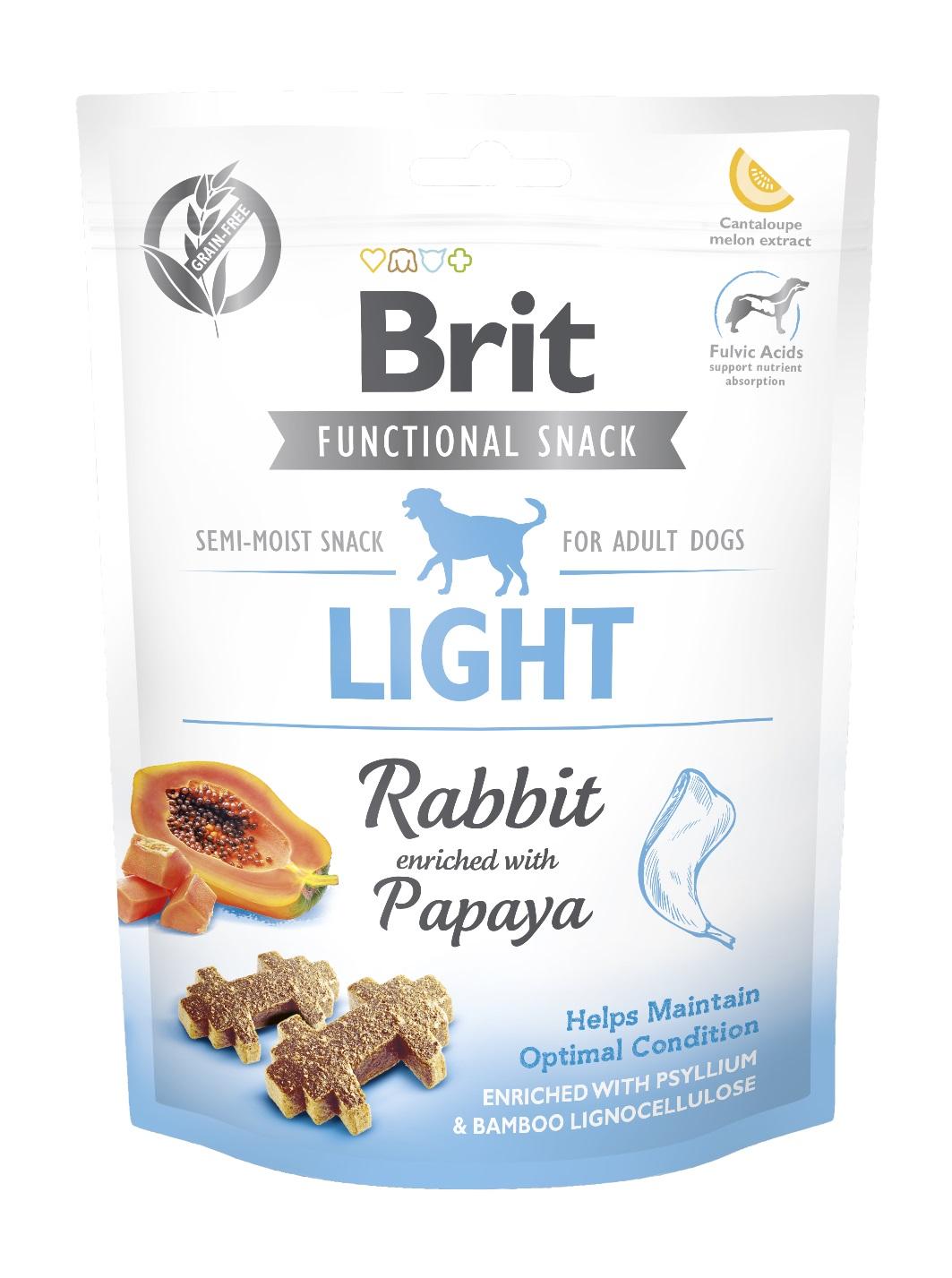 BRIT snack LIGHT rabbit/papaya - 150g