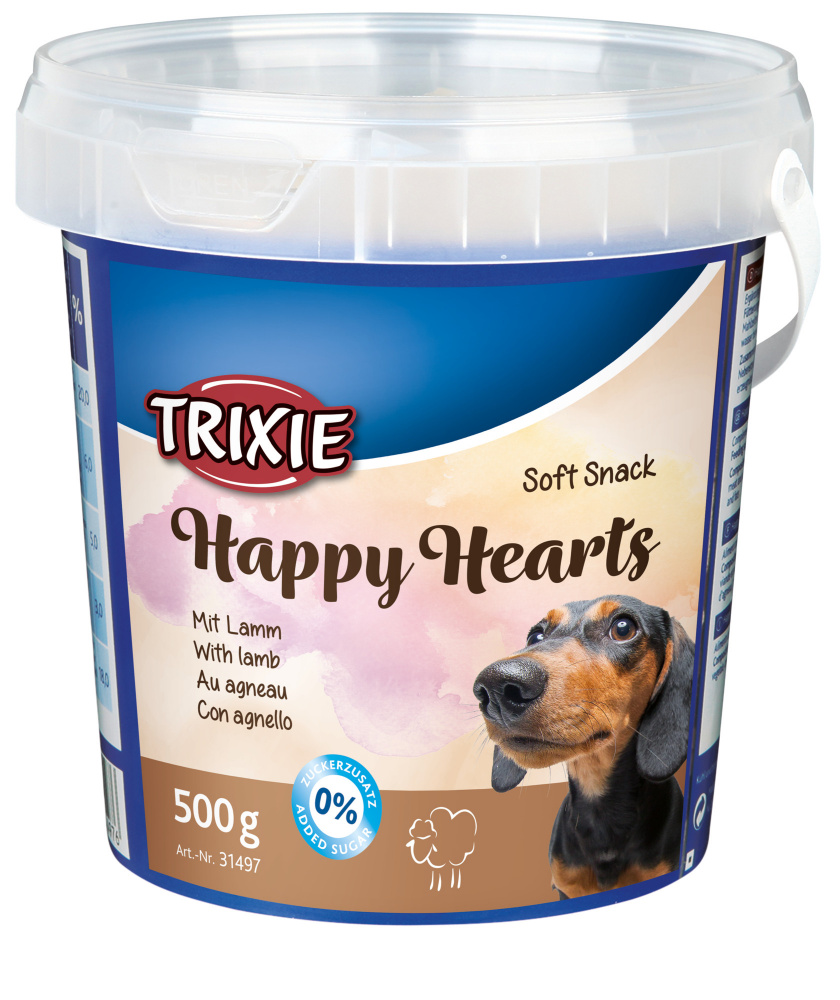 Pochoutka dog HAPPY hearts JEHNĚČÍ (trixie) - 500g