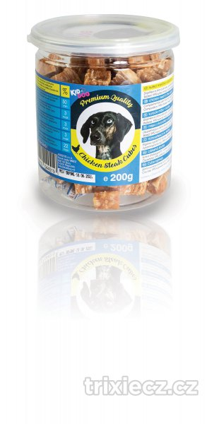 KIDDOG  paml.  CHICKEN steak cubes - 200g