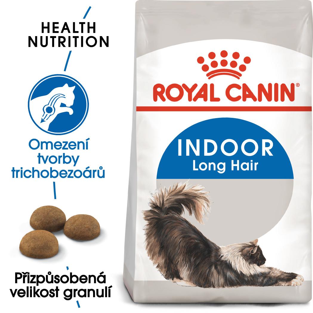 Royal Canin INDOOR LONGHAIR - granule pro kočky žijící uvnitř a zdravou srst - 400g