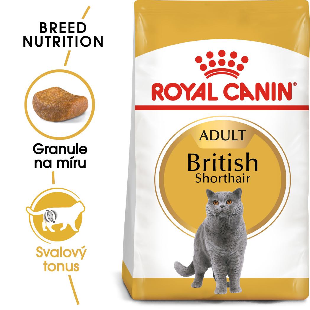 Royal Canin British Shorthair Adult - granule pro britské krátkosrsté kočky - 2kg