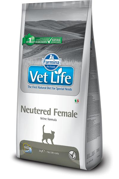 VET LIFE cat NEUTERED FEMALE natural - 2kg