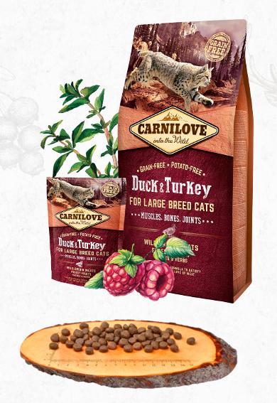 CARNILOVE cat ADULT LARGE duck/turkey - 2kg