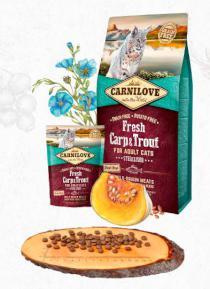 CARNILOVE cat   FRESH STERILISED CARP/trout