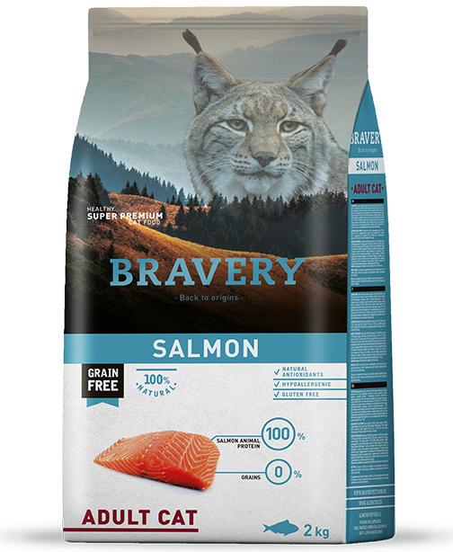 BRAVERY cat  ADULT salmon - 7kg