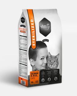 AMITY premium cat STERILISED salmon/rice - 10kg
