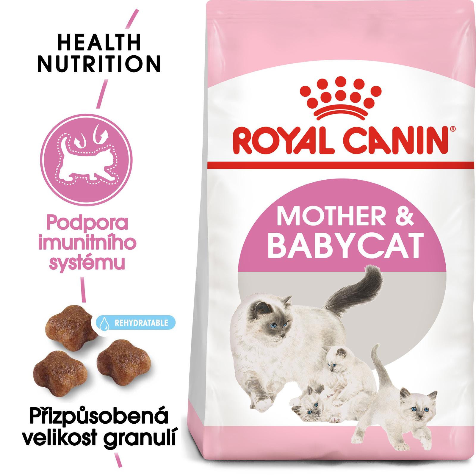 Royal Canin cat Mother&Babycat - granule pro březí nebo kojící kočky a koťata - 2kg