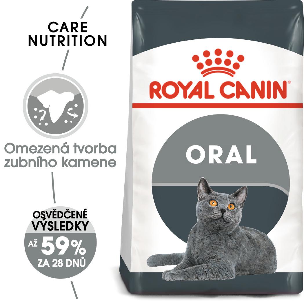 Royal Canin cat Oral Care - granule pro kočky snižující tvorbu zubního kamene - 400g