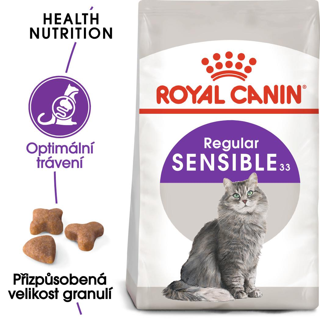 Royal Canin Sensible - granule pro kočky s citlivým zažíváním - 10kg