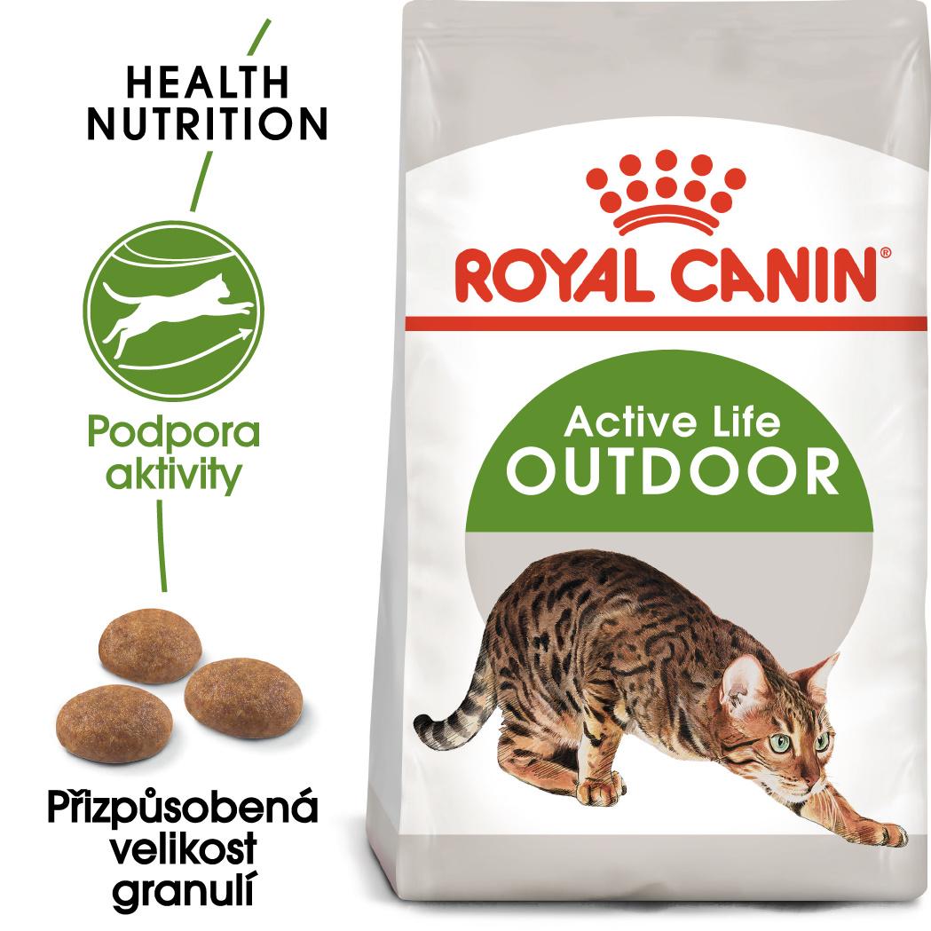 Royal Canin OUTDOOR - granule pro kočky s častým pohybem venku - 10kg