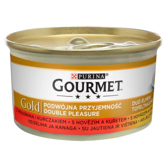 PURINA GG double pleasure HOVĚZÍ/KUŘE konzerva - 85g