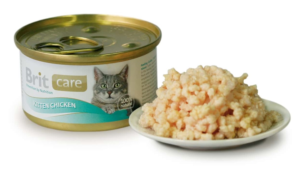 BRIT CARE cat konzerva  KITTEN CHICKEN - 80g