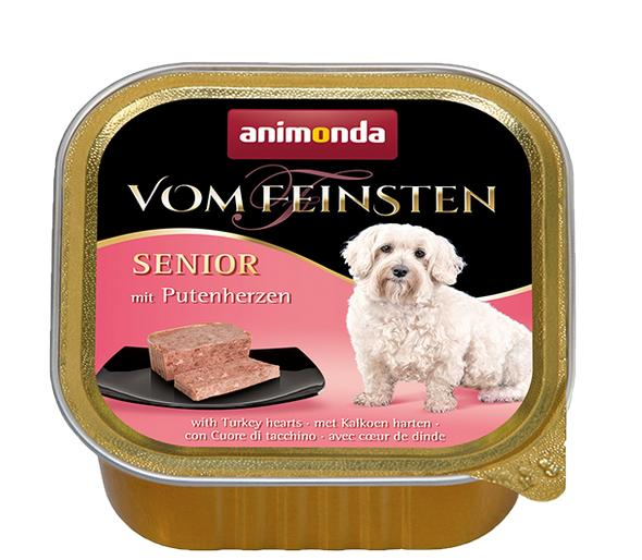 ANIMONDA dog paštika SENIOR  150g - Krůtí srdíčka