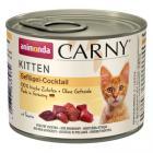 ANIMONDA cat konzerva Carny Kitten drůbeží koktejl