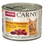 ANIMONDA cat konzerva CARNY hovězí/kuře/kachní srdce
