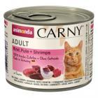 ANIMONDA cat konzerva CARNY hovězí/krůta/krevety