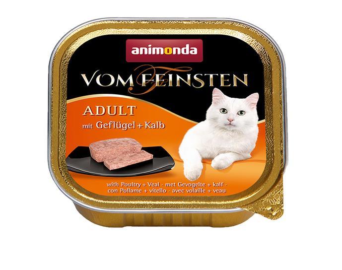ANIMONDA cat paštika  CLASSIC 100g - Drůbeží/Telecí